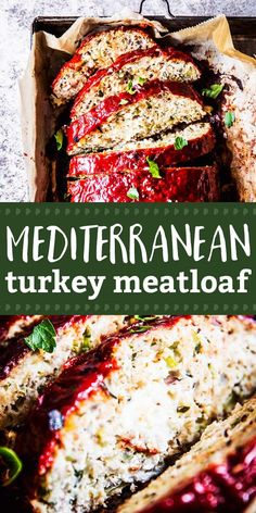 Mediterranean Turkey Meatloaf is an easy entree your whole family will love. Ser… Mediterranean Turkey Meatloaf is an easy entree your whole family will love. Ser…,Mediterranean Eats Mediterranean Turkey Meatloaf is an easy entree. Entree Recipes, Cooking Recipes, Healthy Recipes, Healthy Meatloaf Recipes, Low Fat Dinner Recipes, Easy Mediterranean Diet Recipes, Mediterranean Food, Meat Loaf, Ground Turkey Recipes