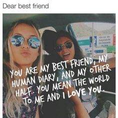 Best Friend Quotes, Best Friendship Sayings for BFF Dear Best Friend, Best Friend Goals, Bff Goals, Best Friend Things, I Love Friends, Beat Friend Day, Qoutes About Best Friends, My Friend, Forever Friends Quotes