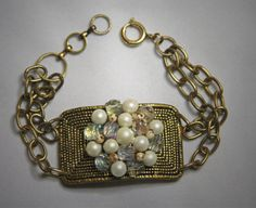 FREE SHIPPINGRepurposed Buckle Bracelet with by jeanettejanson, $34.99
