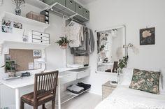 Post: 45 m² en clave nórdica --> 45 metros cuadrados en clave nórdica, blog decoración nórdica, cocina blanca nordica pequeña, decoración en blanco, decoración minipisos, decoración pisos pequeños, estilo nórdico