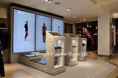Marmo Stucco ltd. Concrete Polished plaster finish. 'House of adidas' Harrods, London