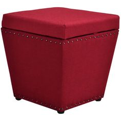 Wildon Home  Cleo Storage Ottoman Finish: Red