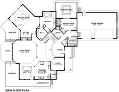 First Floor Plan of House Plan 99983
