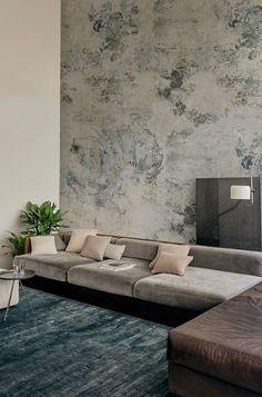 Naga _ Carte da parati design by Draga Obradovic-Aurel K. Sofa Design, Canapé Design, Wall Design, Interior Design, Design Ideas, Luxury Sofa, Luxury Furniture, Wallpaper Collection, Contemporary Wallpaper
