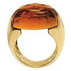 Brides: William Barthman Jewelers. 18K gold and citrine ring, $970, by Chimento from William Barthman Jewelers.