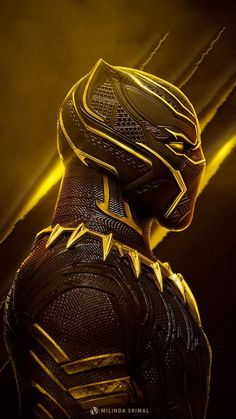 Marvel - Black Panther in Yellow Black Panther Marvel, Black Panther Art, Marvel Art, Marvel Dc Comics, Marvel Heroes, Deadpool Wallpaper, Avengers Wallpaper, Marvel Characters, Marvel Movies