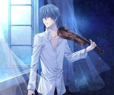 Hot anime guy playing the violin. Tsukimori - La Corda d'oro.  I just love a hot anime guy but the violin was a bonus!