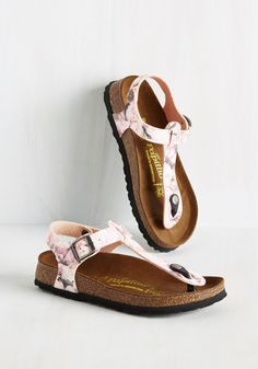 Slingback Has Slung Sandal. Though theres no astronomical event to mark your debut of these Papillio by Birkenstock sandals, you celebrate it all the same! #pink #modcloth
