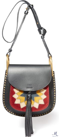 CHLOÉ Hudson Wonder Woman small leather and suede shoulder bag