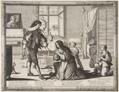 с.1633.Bosse, Abraham. The Wife-Beater (Le Mari battant sa femme).Etching with engraving. 10 1/8 x 13 1/8 in. (25.7 x 33.3 cm). Metropolitan Museum of Art, New York NY.