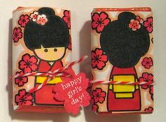 Dandelion Designs: New Stamps - Kokeshi Candy!!