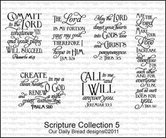 SCRIPTURE COLLECTION 5 - Our Daily Bread Designs