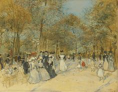 The Champs-Elysees Jean-François Raffaëlli - Date unknown