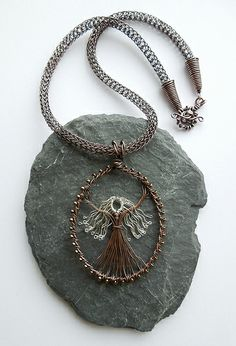 Silver-haired Goddess with viking knit chain (commission) by Louise Goodchild, via Flickr