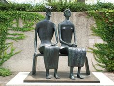 Washington, DC: Hirshhorn Museum and Sculpture Garden: King and Queen (1952-1953, Henry Moore)