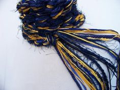 Items similar to St. Blue and Gold Crochet Scarf, on Etsy St Louis Rams, Skinny Scarves, Crochet Accessories, Hand Crochet, Etsy, Gold, Blue, Crocheting, Irish