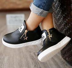 Choice of Girls Stylish Zipper Boots Shoes