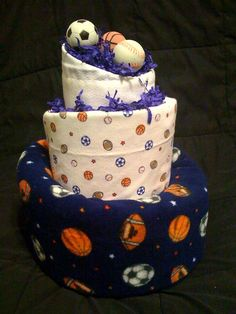 Diaper Cake by hbdiaperdesigns