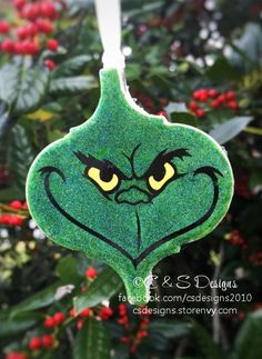 Calling all Grinch fans…. grab yourself a unique custom created ceramic ornament featuring the Grinchs Grinch Christmas Party, Grinch Party, Etsy Christmas, Christmas Makes, Christmas Items, Handmade Christmas, Christmas Holidays, Grinch Ornaments, Diy Christmas Ornaments