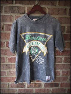 Vintage 80's NBA Stone Washed Boston Celtics Shirt by RackRaidersVintage, $16.00