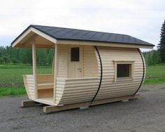 Tiny House Cabin, Tiny House Living, Tiny House Plans, Tiny House Design, Camping Am Meer, Barrel Sauna, House Design Pictures, Cool Tree Houses, Micro House