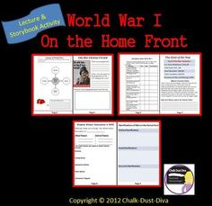 This is an engaging and creative lecture about the effects of World War I on the American Home Front. As the teacher reviews the important information, students complete the corresponding storybook template. To assess their knowledge, the students take a quiz about what they learned. Power Point includes entertaining film clips, pictures, charts, maps and graphs to keep your students engaged. $