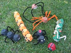 Pipe cleaner and egg carton bugs!