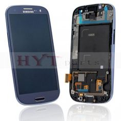 New Genuine LCD Touch Screen with frame Assembly Repair Part for Samsung Galaxy S3 LTE i9305 Blue