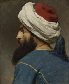 Learn more about Portrait Of An Ottoman Jules Joseph Lefebvre - oil artwork, painted by one of the most celebrated masters in the history of art. Joseph, Beaux Arts Paris, Ottoman Turks, The Imitation, Academic Art, European Paintings, Classic Paintings, Inspirational Artwork, Arabian Nights