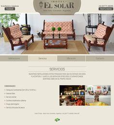 Página de servicios - Web de hotel