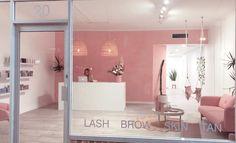 Salon entrance salon Entryway salon furniture salon desk front desk salon f Home Nail Salon, Nail Salon Design, Hair Salon Interior, Nail Salon Decor, Salon Interior Design, Makeup Studio Decor, Beauty Bar Salon, Beauty Salon Design, Makeup Salon