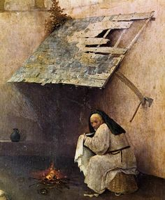 Hieronymus Bosch  (1450 - 1516) - The Epiphany - The Adoration of the Magi (detail). Prado Museum.