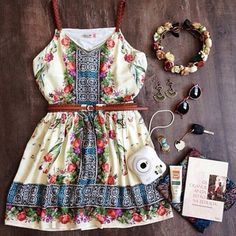 Slim Sling V-Neck Print Dress ... this is like the cutest dress I have EVER seen <3 <3 <3 <3