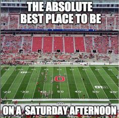 I live here and I've NEVER been to a game! Hopefully in a few years! Best Place to be on a Saturday Afternoon! ! #TheHorseshoe #Buckeyes