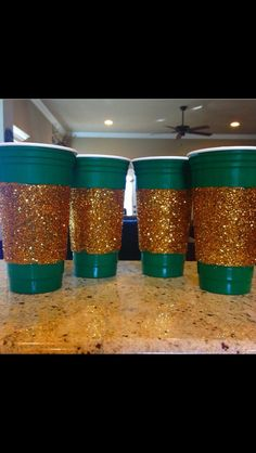 Cute idea to decorate cups for #Baylor game days! Thanks @lindsay_lowery1 for the idea!