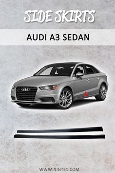 Car accessories for Audi Sedan: Car Extension Splitter Side Skirts Spoiler Body. Must have car customization and decoration accessories. Step up your car's look with this car essentials. Available for different makes and models. Custom Car Parts, Custom Cars, Must Have Car Accessories, Audi A3 Sedan, Car Essentials, Car Painting, Car Photos, Luxury Cars, Models