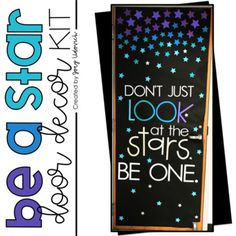 Be A Star Door Decoration Set - bulletin boards - Burlap Star Themed Classroom, Space Theme Classroom, Stars Classroom, Middle School Classroom, First Grade Classroom, Classroom Organization, Sistema Solar, Hallway Bulletin Boards, School Door Decorations