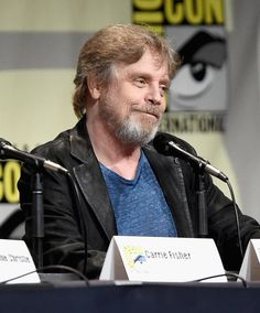 """Actor Mark Hamill at the Hall H Panel for """"Star Wars: The Force Awakens"""" during Comic-Con International 2015 at the San Diego Convention Center on July 2015 in San Diego, California. Get premium, high resolution news photos at Getty Images Mark Hamill, Star Wars Film, San Diego Comic Con, People Magazine, Princess Leia And Luke, For Stars, Last Jedi, Luke Skywalker"""