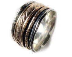 Anillo infinito venda de boda anillo de oro plata por artisanlook