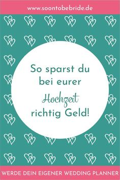 How to save real money at your wedding!-So sparst du bei eurer Hochzeit richtig Geld! Are you still looking for ways to save money at your wedding? Here you will find lots of ideas on how to relieve your budget. Wedding On A Budget, Wedding Tips, Diy Wedding, Wedding Planning, Dream Wedding, Wedding Hacks, Wedding Prep, Wedding Makeup, Wedding Details