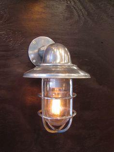 Vintage Aluminum Nautical/ Industrial Lights by Redhouseblueocean, $155.00