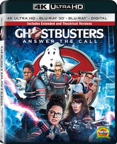 Ghostbusters Gets a New Title for Home Video  With the announcement of Ghostbusters' 4K Ultra HD Blu-ray and DVD releases Sony Pictures Home Video has revealed a new subtitle for the film: Answer the Call.  Ghostbusters: Answer the Call Extended Edition will feature fifteen minutes of new footage and will be available September 27 as a4K Ultra HD/Blu-ray 3D Combo Pack. An ordinary Blu-ray release will follow on October 11.  While its included in both of the aforementioned versions the…