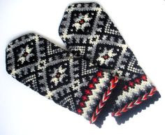 Hand knitted wool mittens Knitted mittens Warm by mittenssocksshop