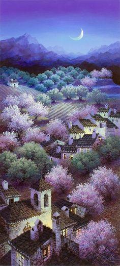 Luis Romero   Spanish Spray Painter   Colorful Landscapes   1948
