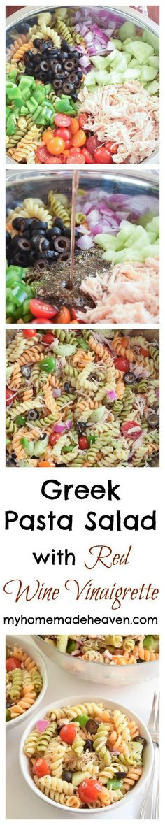 This is the perfect pasta salad to make when you want something light to eat on a warm summer day, or you have company coming over. And it's so easy to make!
