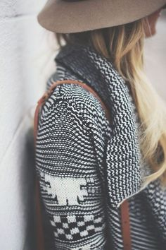Love this sweater & it looks simply adorable with the hat......