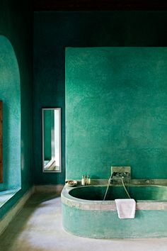 bathed in malachite