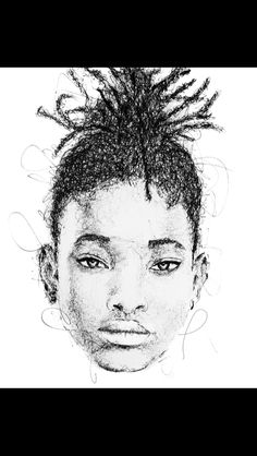 034b541a97afa Willow smith Scribble portrait by Gus Romano. Sketch with black pen and ink.  Scribble ArtWillow SmithDrawing ...