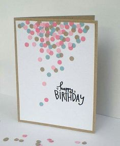 Handmade birthday card ideas with tips and instructions to make Birthday cards yourself. If you enjoy making cards and collecting card making tips, then you'll love these DIY birthday cards! Homemade Birthday Cards, Homemade Cards, Simple Birthday Cards, Ideas For Birthday Cards, Tarjetas Diy, Paper Cards, Creative Cards, Cute Cards, Scrapbook Cards