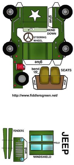 Vehicle fold-up printable